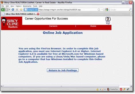 Application Fail
