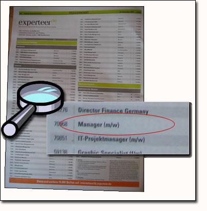 Experteer Stellenanzeige für Manager