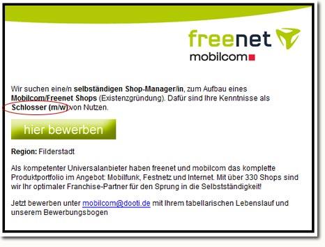 Freenet Stellenangebot 2