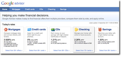 Google Advisor Screenshot