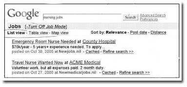 Google Jobsuche Screenshot