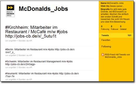 mcdonalds jobs twitter account - Mc Donalds Bewerbung