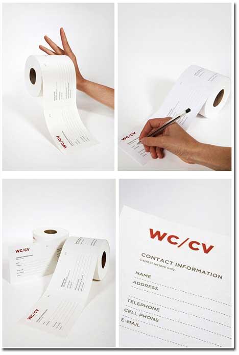 Lebenslauf Toilettenpapier